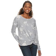 Juniors' Candie's® Twist Front Sweatshirt