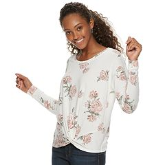 Juniors' Candie's® Twist Front Sweatshirt