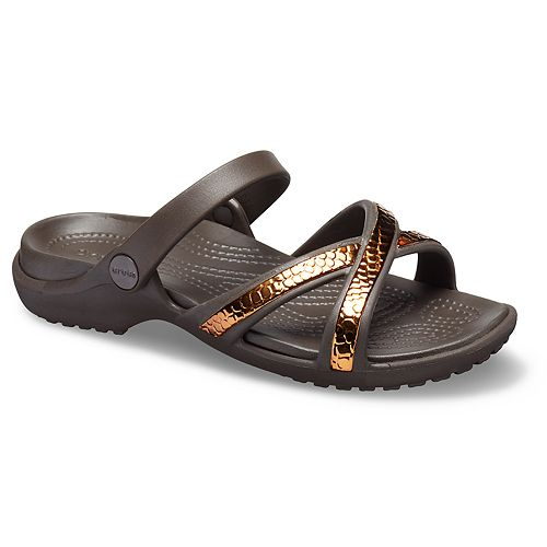 Crocs Meleen Metal Texture X-Band Women's Sandals