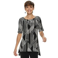 Women's Dana Buchman Sharkbite Hem Top