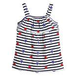 Girls 4-12 Jumping Beans® Patriotic Pom-Trim Tank Top