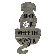 0a1eefafa2 Hanging Wall Decor. Belle Maison Home Is Where the Dog Is Wall Art