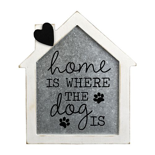 Belle Maison Home Is Where The Dog Is Wall Art