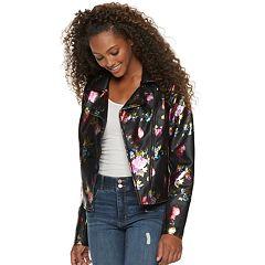 Juniors' Candie's® Printed Floral Moto Jacket