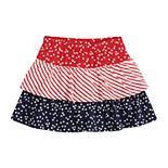 Girls 4-12 Jumping Beans® Patriotic Tiered Skort