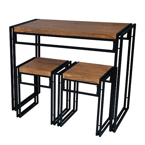 Tall Dining Table & Counter Stool 3-piece Set