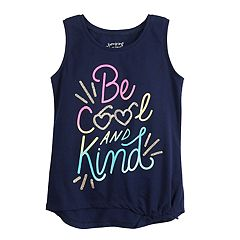 Girls 4-12 Jumping Beans® Knot-Front Graphic Tank Top