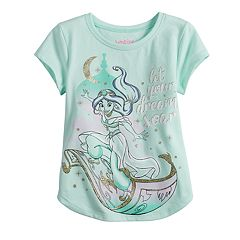 Disney's Princess Jasmine Toddler Girl Glittery Graphic Tee by Jumping Beans®