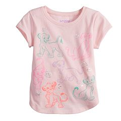 Disney's The Lion King Simba & Nala Toddler Girl Foiled Graphic Tee by Jumping Beans®