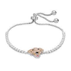 Crystal Dog Adjustable Bracelet
