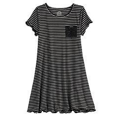 Girls 7-16 & Plus Size SO® Crochet Pocket T-Shirt Dress