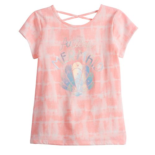 Girls 4-12 Jumping Beans® Criss-Cross Back Graphic Tee