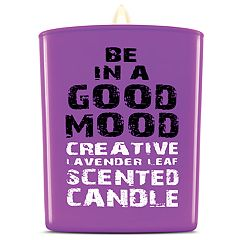 BE IN A GOOD MOOD Creative Lavender Leaf Scented Candle