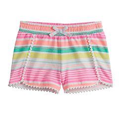 Toddler Girl Jumping Beans® Print Pom-Trim Shorts