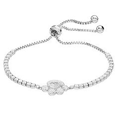 Crystal Paw Adjustable Bracelet