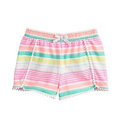 Girls 4-12 Jumping Beans® Pom-Trim Shorts
