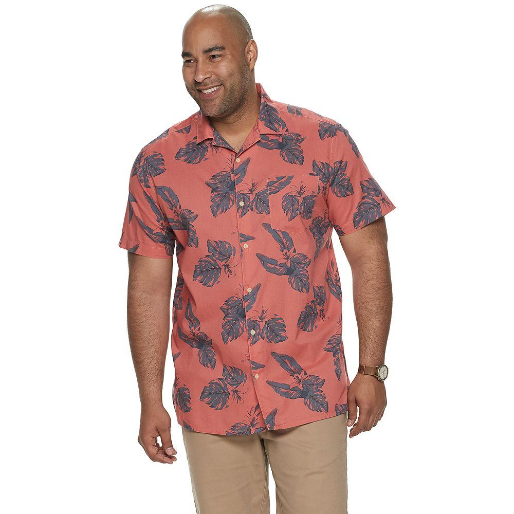Big & Tall SONOMA Goods for Life® Tropical Camp Shirt