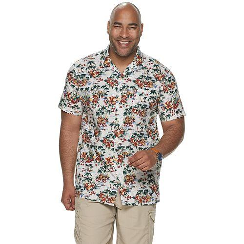 Big & Tall SONOMA Goods for Life™ Tropical Camp Shirt