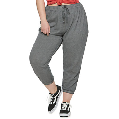 Juniors' SO® Cropped Cinch Joggers