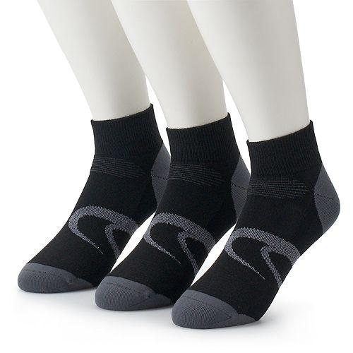 Men's ASICS 3-pack Intensity Quarter Socks