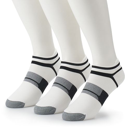 Men's ASICS 3-pack Quick Lyte Single-Tab Low-Cut Socks