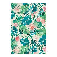 SONOMA Goods for Life Floral Indoor Outdoor Rug (5' X 7')