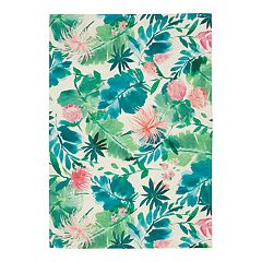 SONOMA Goods for Life™ Printed Palm Floral Indoor Outdoor Rug