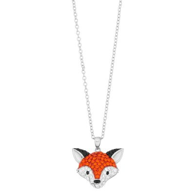 Crystal Fox Pendant Necklace