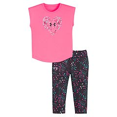 Baby Girl Under Armour Heart Constellation Tee & Capris Set