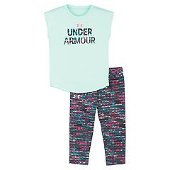 Baby Girl Under Armour Graphic Tee & Geometric Capris Set