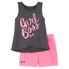 9ee242414 Baby Girl Under Armour 'Girl Boss' Tank Top & Shorts Set