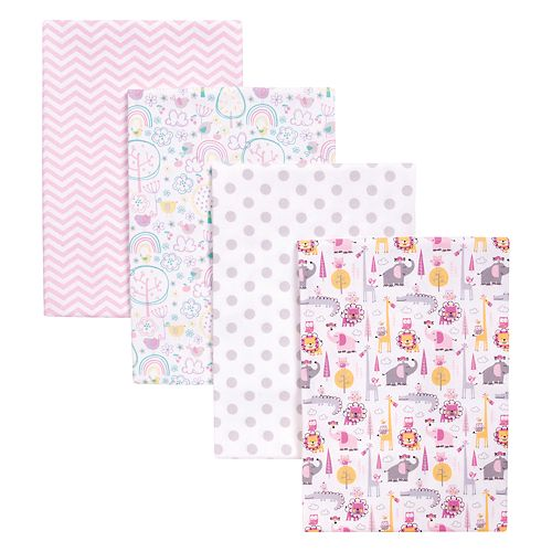Trend Lab Pink Safari 4 Pack Blankets
