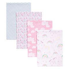 Trend Lab Unicorn Rainbow 4 Pack Blankets