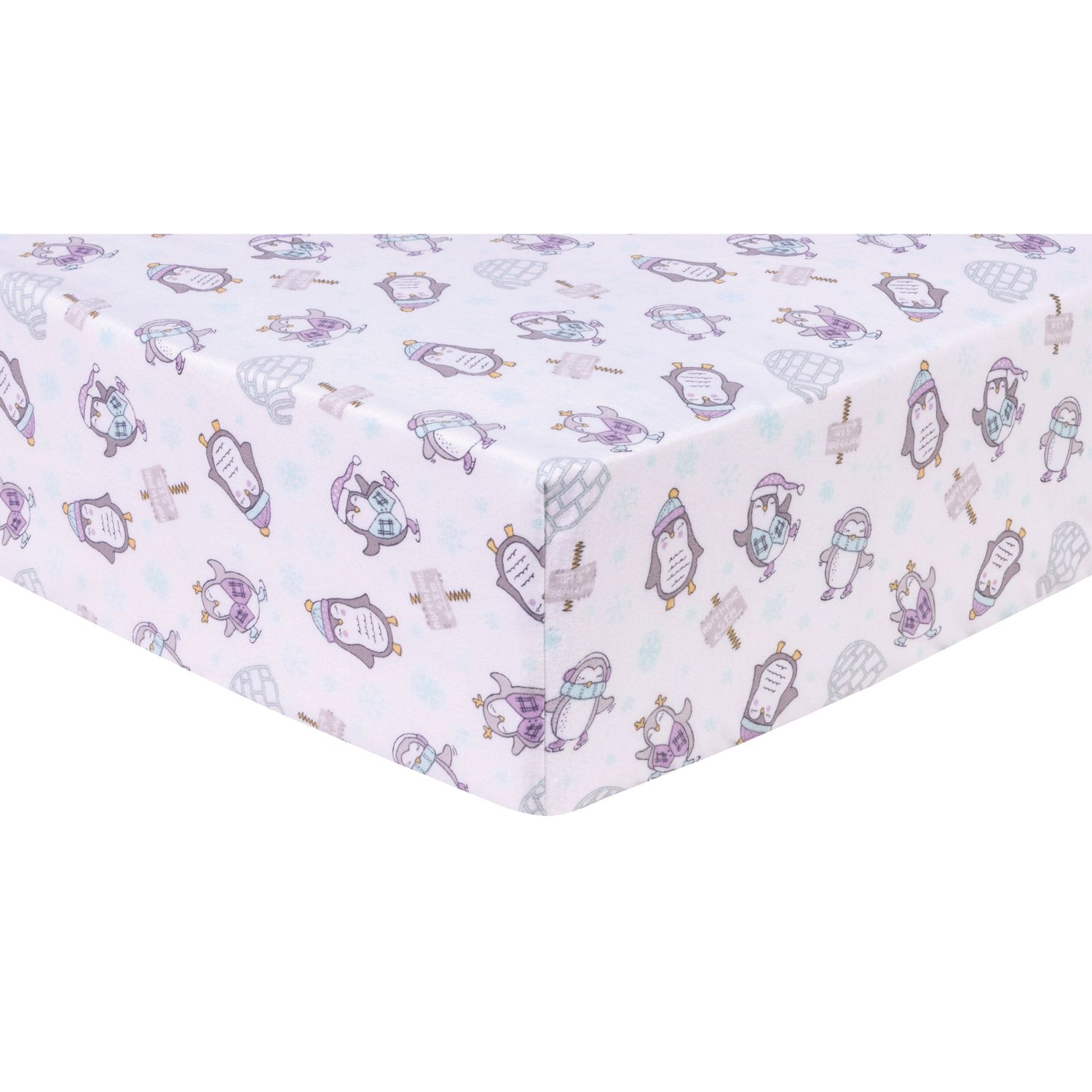 Trend Lab Dinosaur Palm Deluxe Flannel Fitted Crib Sheet