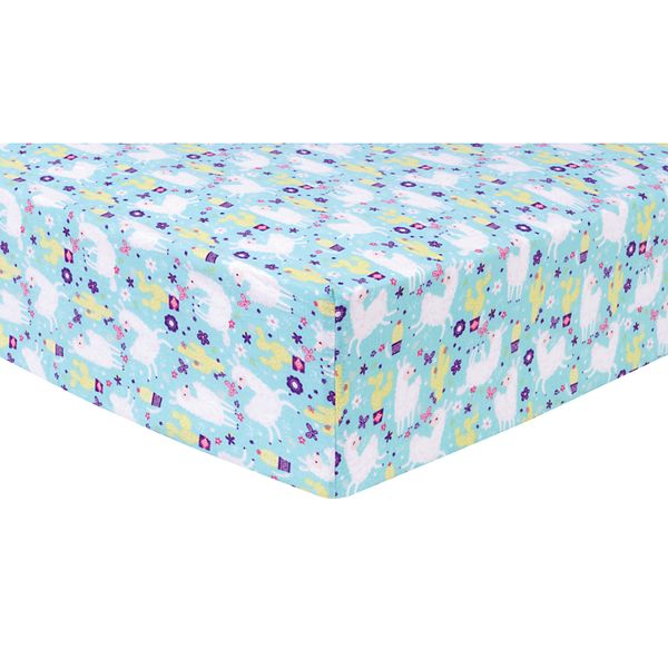 Trend Lab Llama Paradise Deluxe Flannel Fitted Crib Sheet