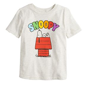 Boys 4-12 Jumping Beans® Peanuts Snoopy Rainbow Letters Graphic Tee