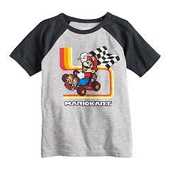 Boys 4-12 Jumping Beans® Mario Kart Raglan Graphic Tee