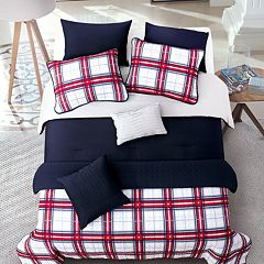 Riverbrook Home Red Plaid Comforter & Coverlet Set