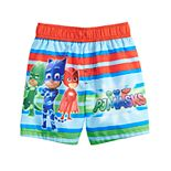 Toddler Boy PJ Masks Striped Swim Trunks
