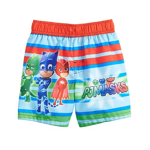 ec82879c60 Toddler Boy PJ Masks Striped Swim Trunks