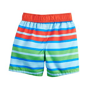 Toddler Boy PJ Masks Striped Swim Trunks