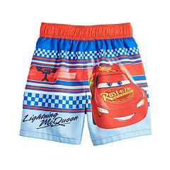 Disney / Pixar Cars Toddler Boy Lightning McQueen Striped Swim Trunks
