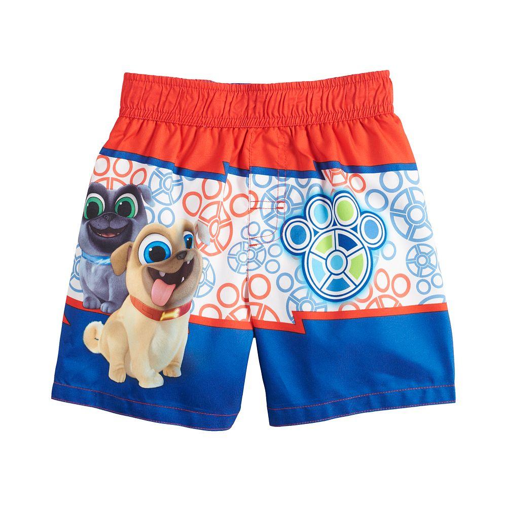 Disney's Puppy Dog Pals Toddler Boy Striped Swim Trunks