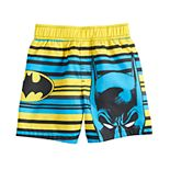 Toddler Boy DC Comics Batman Striped Swim Shorts