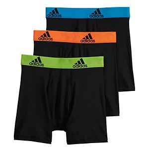 Boys 4-20 adidas Sport Performance climalite 3-Pack Boxer Briefs