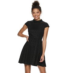 Juniors' Rewind Knit Skater Dress