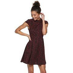 Juniors' Rewind Knit Skater Dress