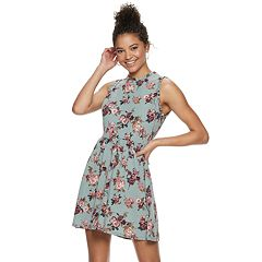 Juniors' Rewind Sleeveless Knit Skater Dress