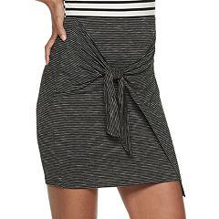 Juniors' Joe B Tie Front Mini Skirt