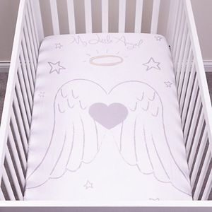 Trend Lab My Tiny Moments Angel Flannel Photo Op Fitted Crib Sheet